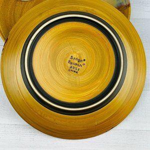 Dessert Plate Sango Stoneware 4951 SPLASH BROWN Salad